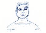 Chakotay ink sketch