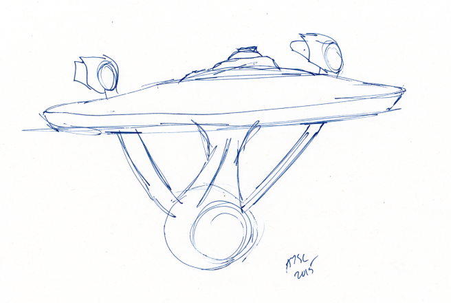 Enterprise Sketch - ink