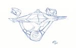Enterprise sketch - ink