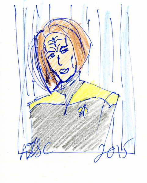 B'Elanna Torres sketch - ink and coloured pencil