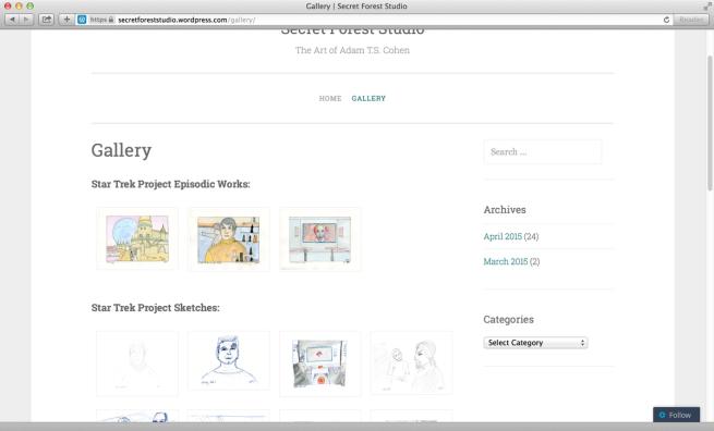 Gallery page screenshot