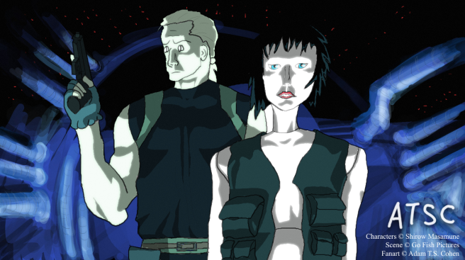 Scene from Ghost in the Shell 2: Innocence - digital painting