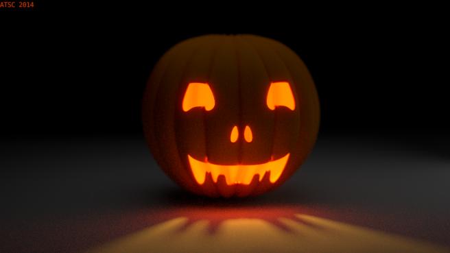 3d Pumpkin Jack O'Lantern
