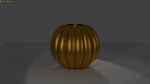 3d Copper Pumpkin