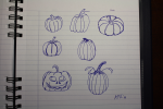 October Pumpkin Sketches