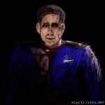 Babylon 5 - Jeffrey Sinclair - digital painting