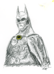 Batman - pencils, with a touch of pastels and coloured pencil