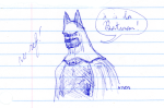 Batman Quick Sketch No Ref - blue ink