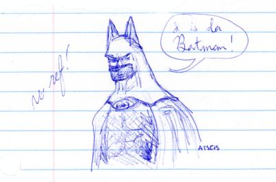 Batman Quick Sketch No Ref - blue ink