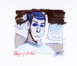 Spock on Bridge - Mixed Media