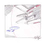 Enterprise D and Tamarian Ship
