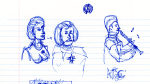 Voyager Doodle - Seven, Janeway, and Kim