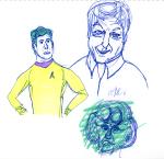 Trek Doodle - Kirk, McCoy & Ferengi