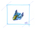 Blue Falcon from SNES F-Zero Concept Art